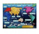 세계여러나라 지도 포일아트