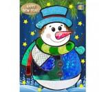 동글이 새해 눈사람 포일아트